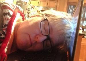 asleep on the keyboard